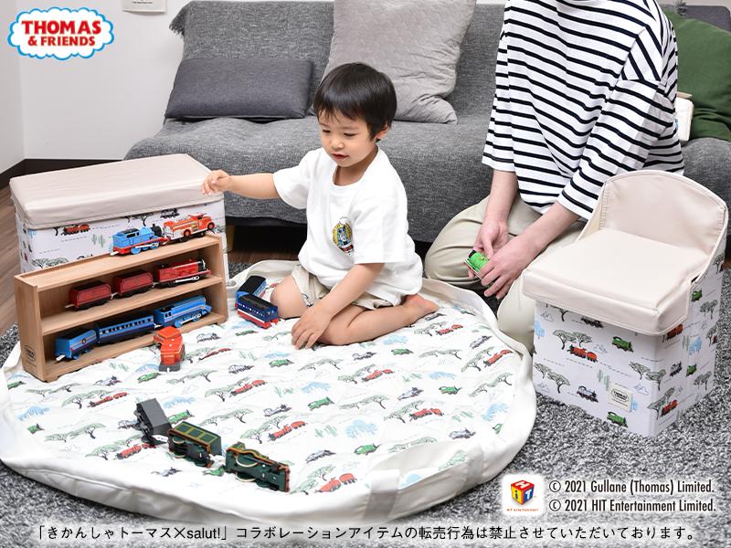 きかんしゃトーマス×salut!のコラボアイテムが本日(5/11)発売開始。家族で使えるサコッシュや、おもちゃの収納に役立つアイテムなど