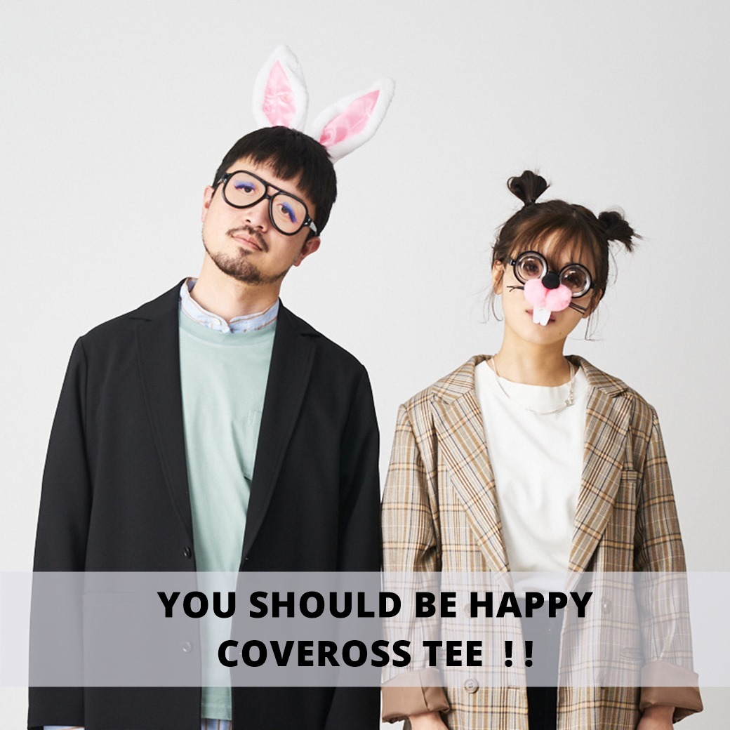 CIAOPANIC(チャオパニック)YOU SHOULD BE HAPPY COVEROSS TEE !!(カバロス)
